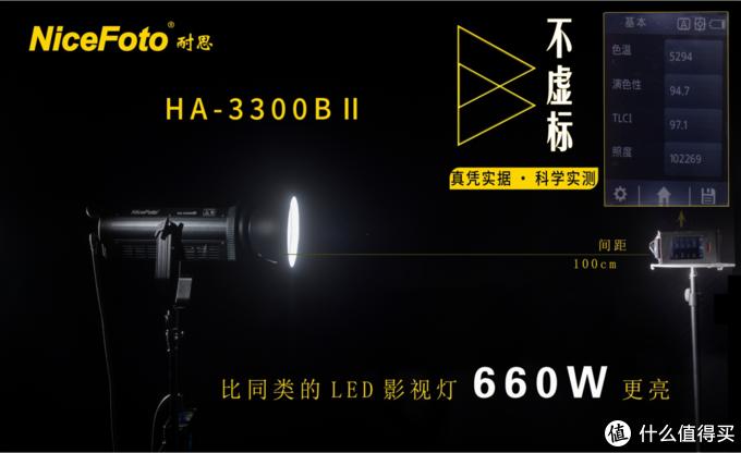(耐思330瓦摄影灯能达到10万以上的照度值)