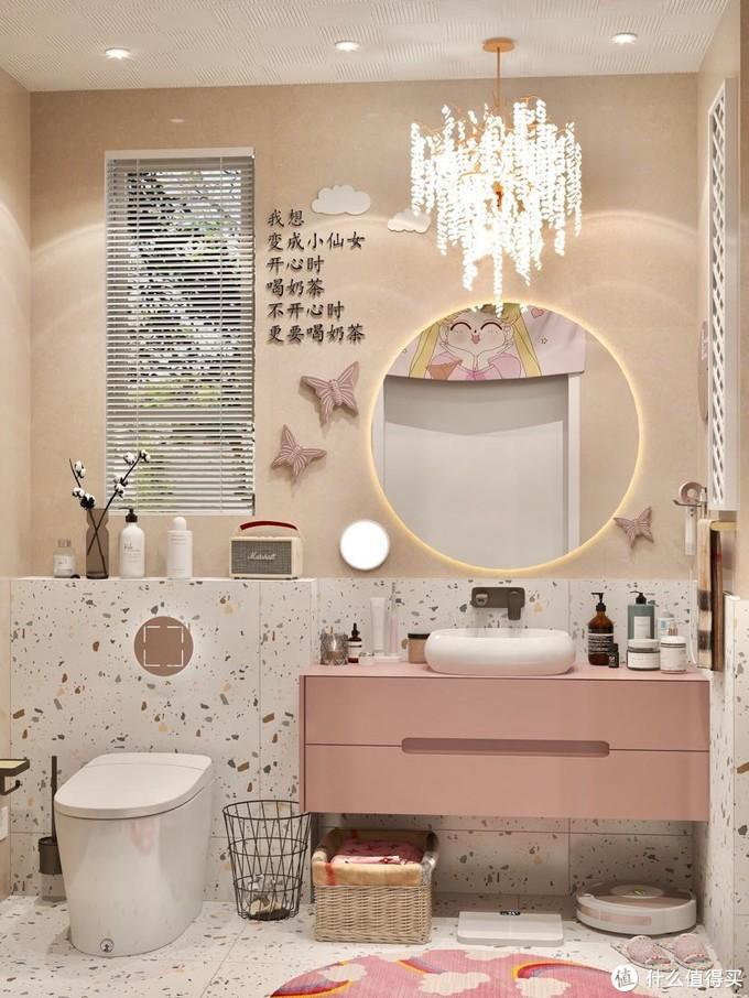 独居女孩的温馨浴室,智能马桶快乐升级