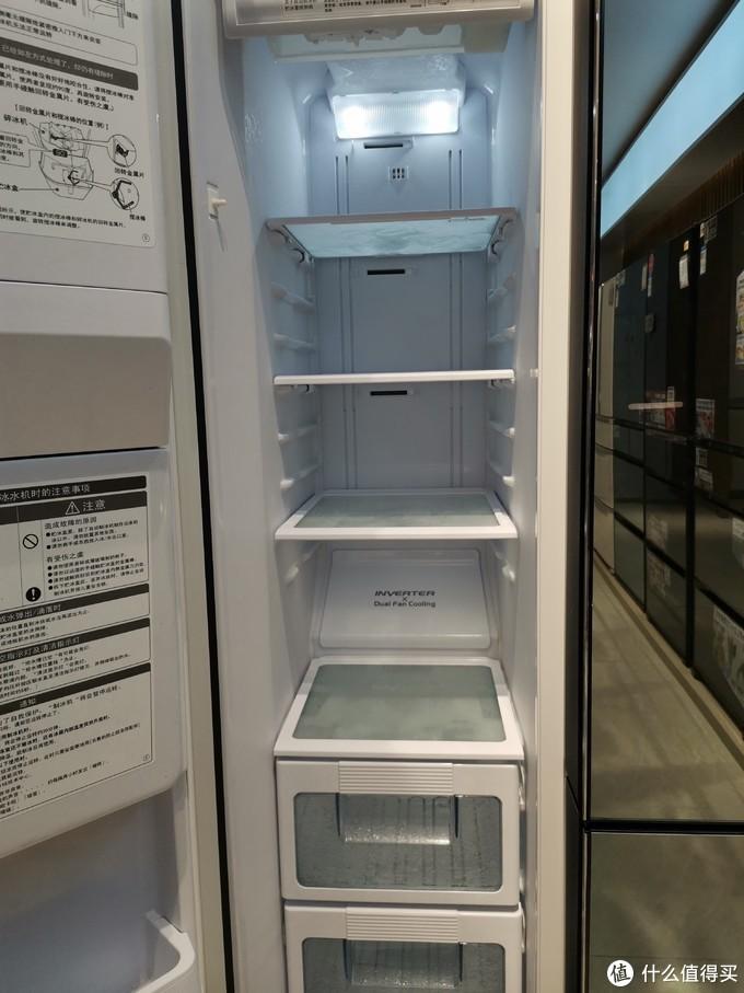 冷冻室的风扇在中部