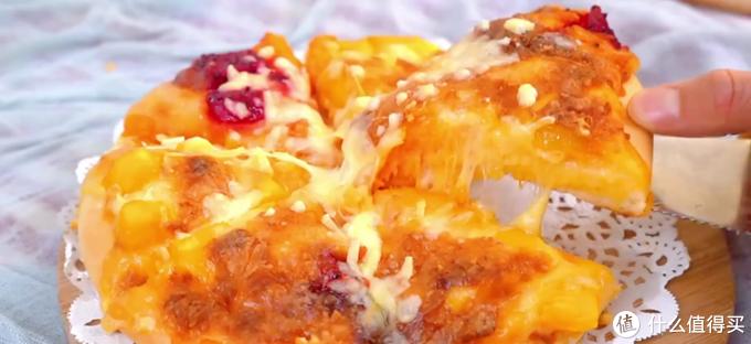 自制薯泥水果披萨,超多的薯泥和水果,超满足!