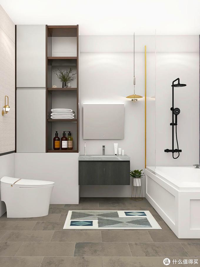 新房装修|藏在都市女性家里的轻奢风浴室