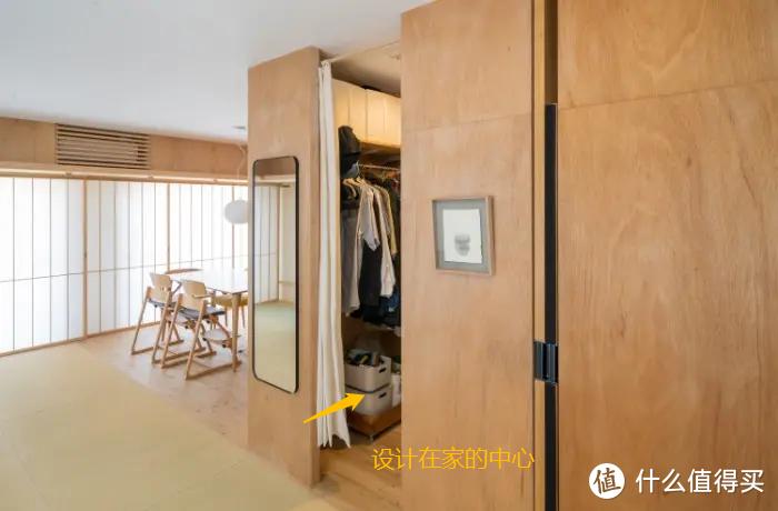 """日式住宅的收纳精髓,全在这2平的""""去衣柜化""""设计里,灵活实用"""