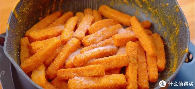 自制咸蛋黄焗红薯,外皮香脆有嚼劲儿