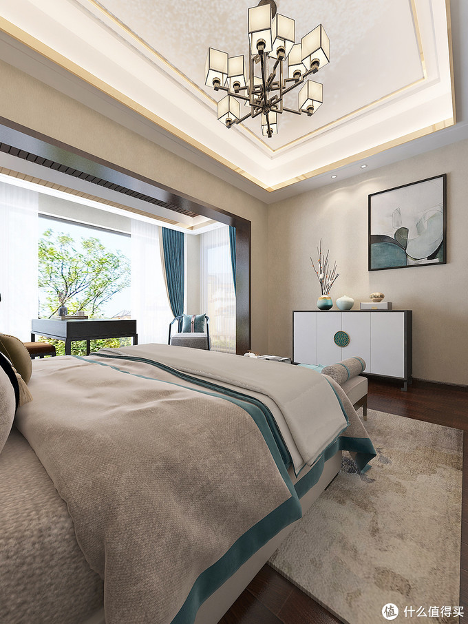 文化感很强的新中式复式楼,单层面积100㎡,屋内显得宽敞又舒适