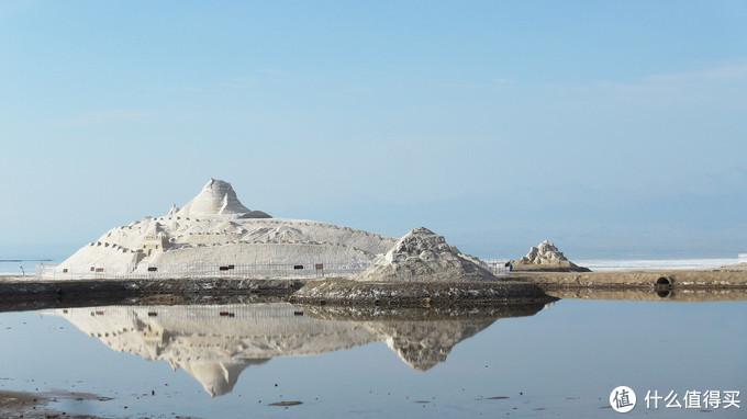 景区门口的盐雕