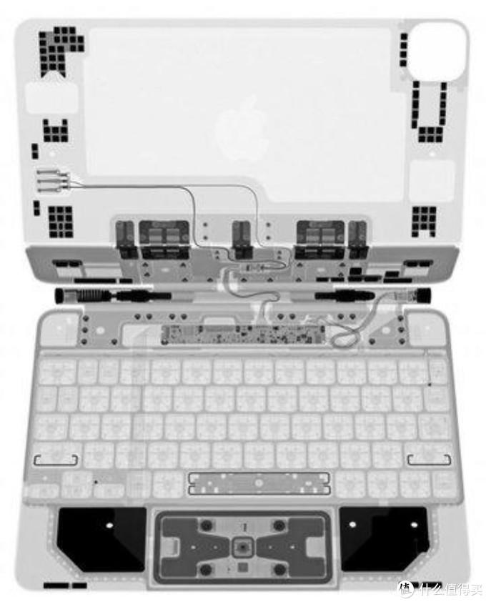 Ifixit磁铁妙控键盘x光照片