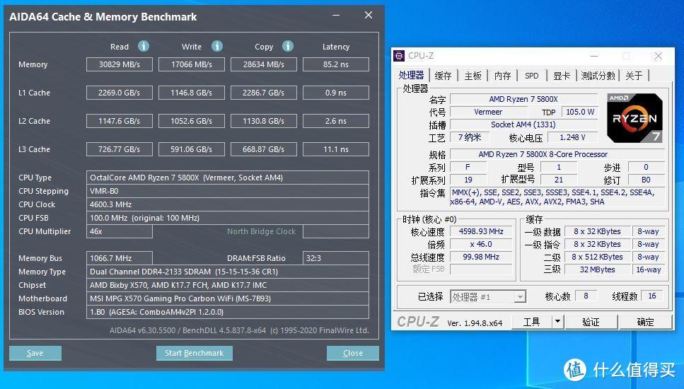 AIDA64(4.6G+默认内存状态)