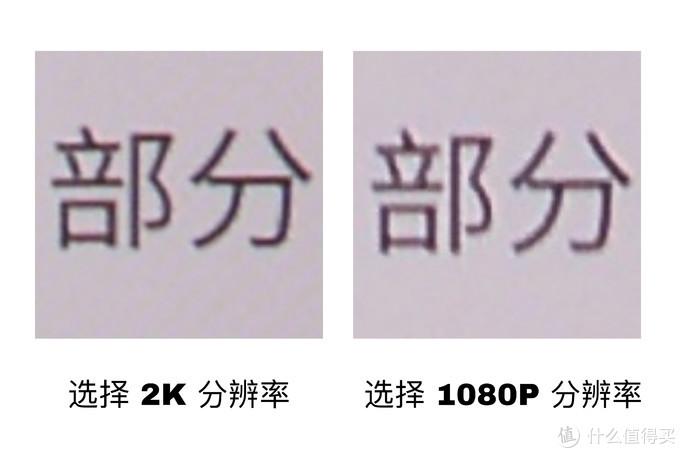 2K 和 1080P 文字观感差距