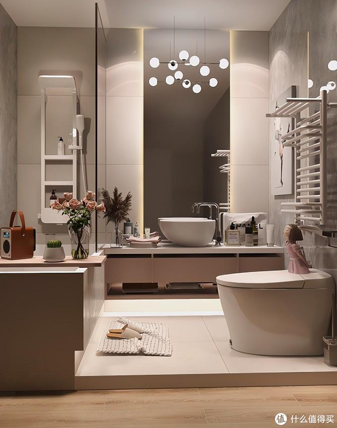 30年设计师倾力打造,4㎡卫生间带尺寸设计图,超高档温馨