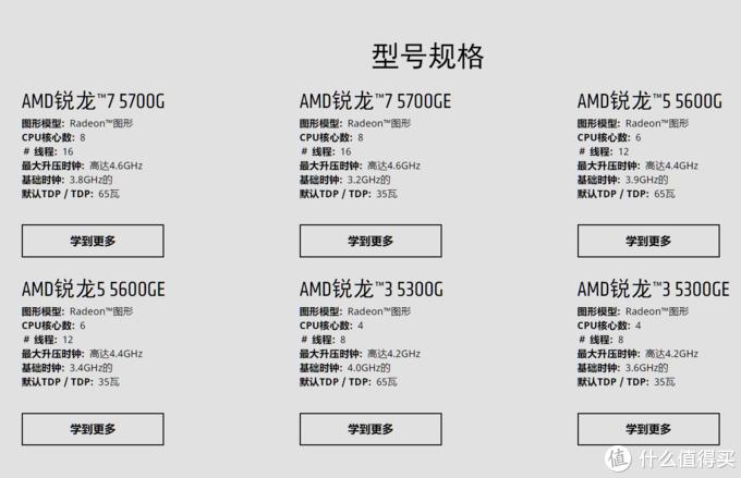 AMD发布新Ryzen 5000G APU处理器,升级Zen3架构、单核性能提升