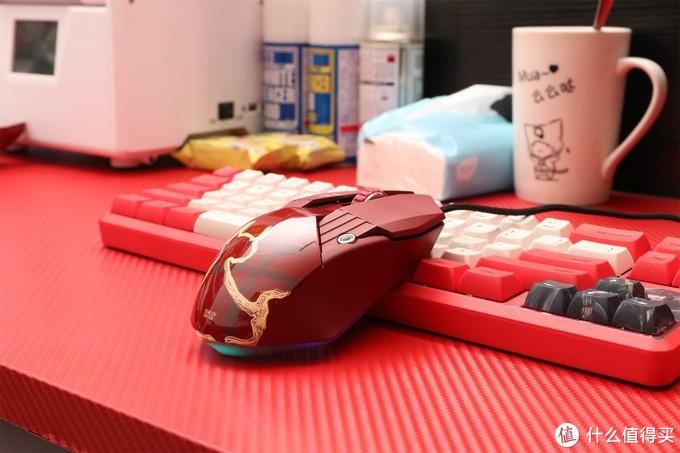 赤色风暴,实物比渲染图好看的鼠标 达尔优A970牛年版