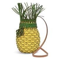 牛皮革菠萝手袋Yellow/Green-LOEWE