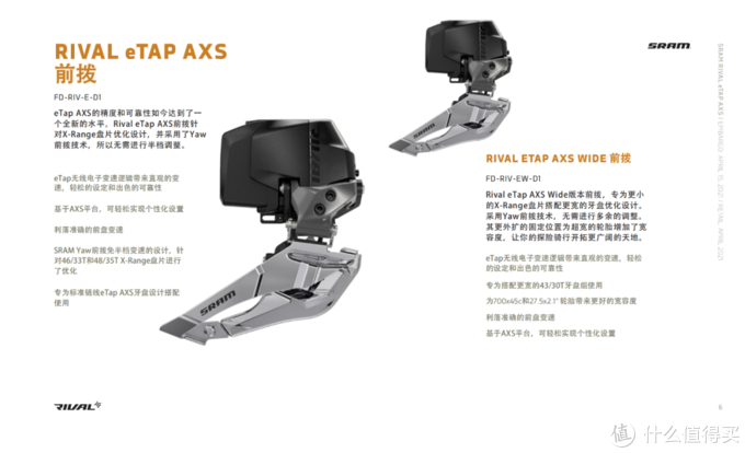 SRAM发布第三级别无线电变套件Rival AXS全面拥抱碟刹