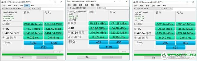 AS SSD软件跑分