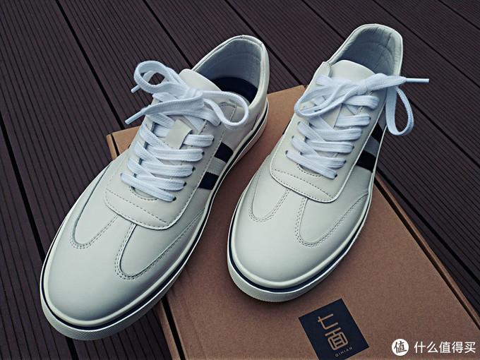 选鞋,颜值舒适我都要,就如七面头层牛皮轻弹小白鞋