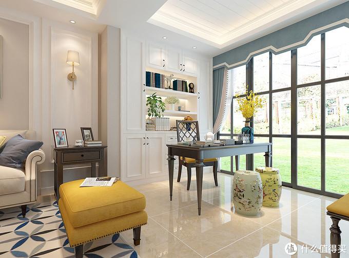 她家的美式风格装修太黏人了,温馨到让人参观了不想走,很有特色
