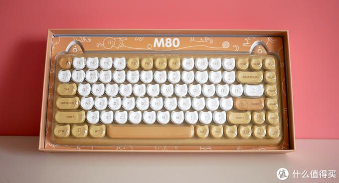 萌萌哒,我不配,IQUNIX M80无线猫咪机械键盘开箱