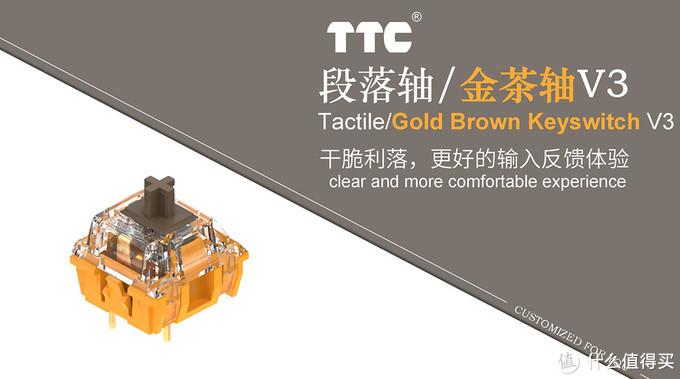 顶级的茶轴长啥样 TTC金茶轴V3