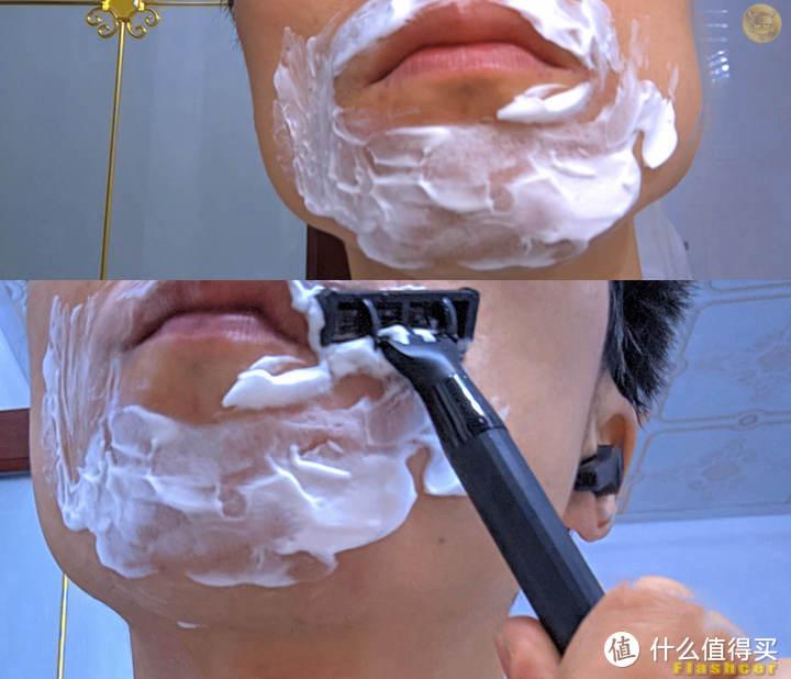 男士日常必备一刮即净,自用送礼两相宜,焕醒手动剃须刀套装体验
