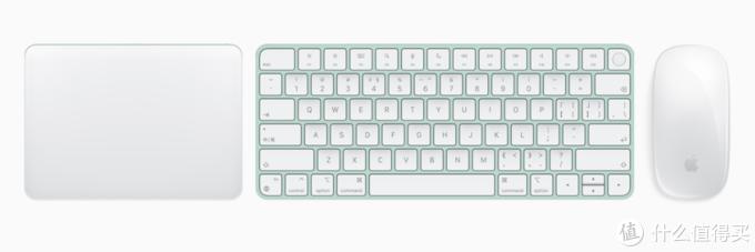 苹果还发布7彩妙控键鼠和触摸板,高配版本还带有触控ID功能