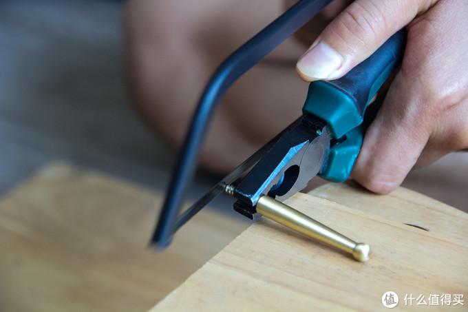 铜衣钩螺丝太长也能锯
