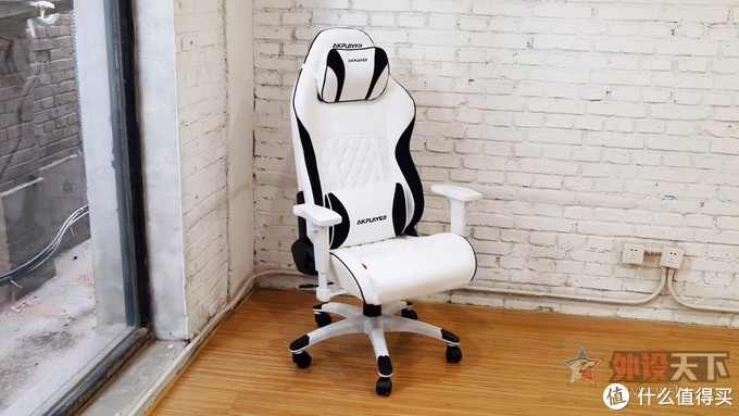 黑白熊猫色!阿卡丁加州系列白色电竞椅简评