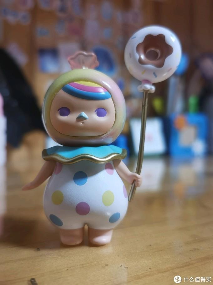 泡泡玛特毕奇精灵摆件:小粉星人+小气球+甜梦宝宝晒物