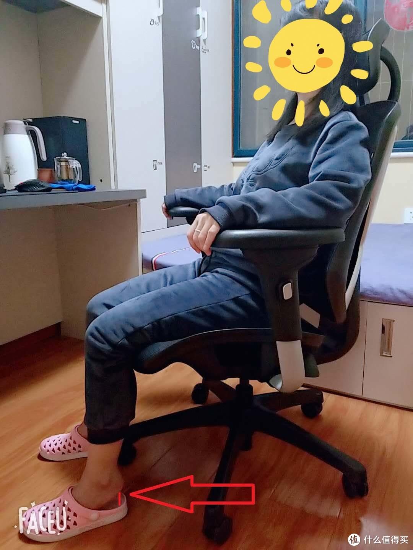 看来身高160的人在座椅调整到最低的时候,双脚距离地面还是有距离的