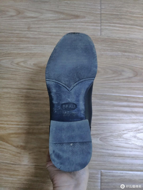 以我自己的鞋底为例,观察验证了我的确属于正常足弓