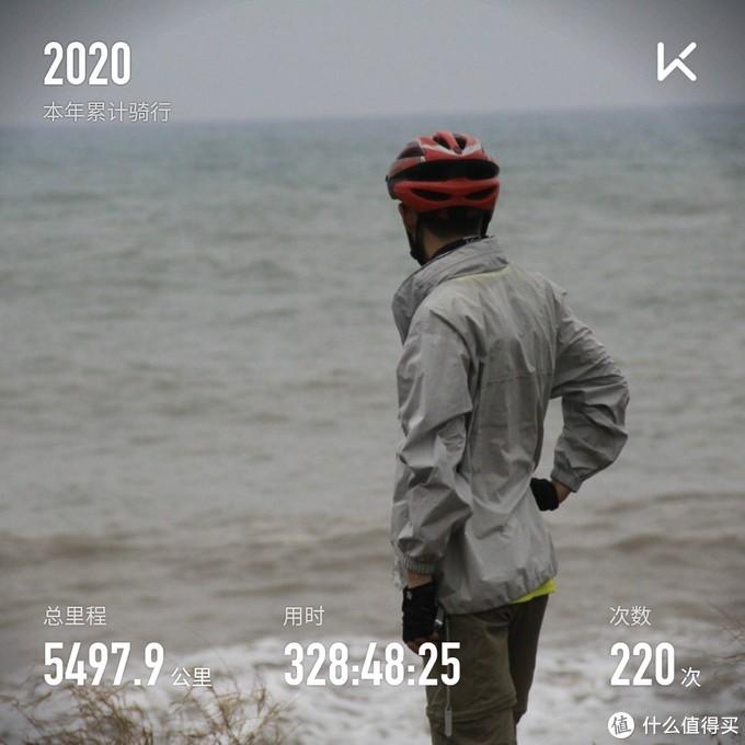 Keep软件记录的2020年累计骑行里程