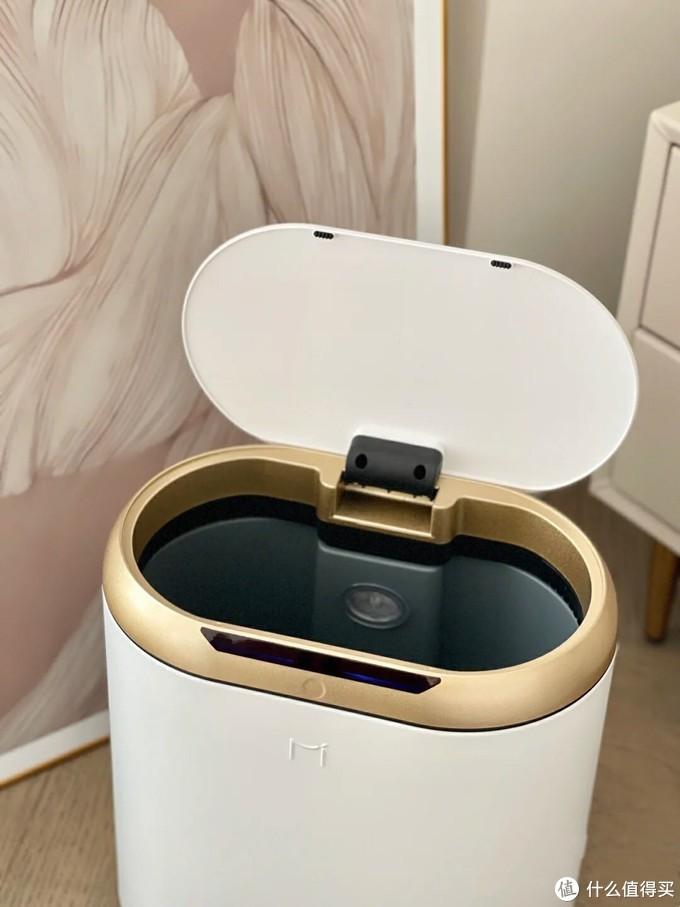 装修日记|给家里换了个麦桶桶轻奢感应垃圾桶,怎么搭都好看!
