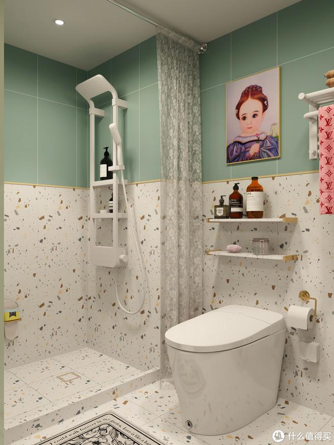 卫生间设计,适合小户型的迷你浴缸,拒绝卫生死角!