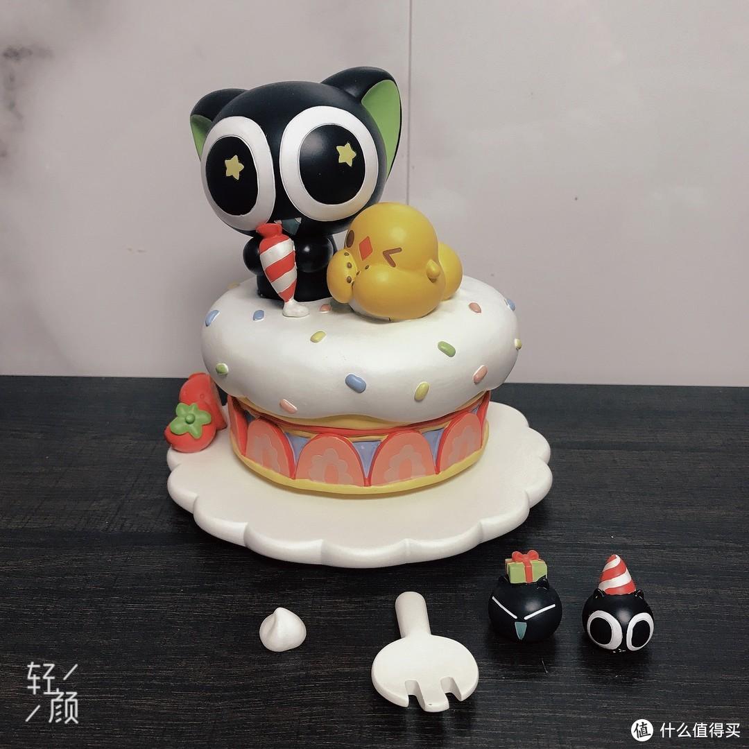 治愈系小礼物——超可爱的罗小黑生日蛋糕音乐盒摆件测评
