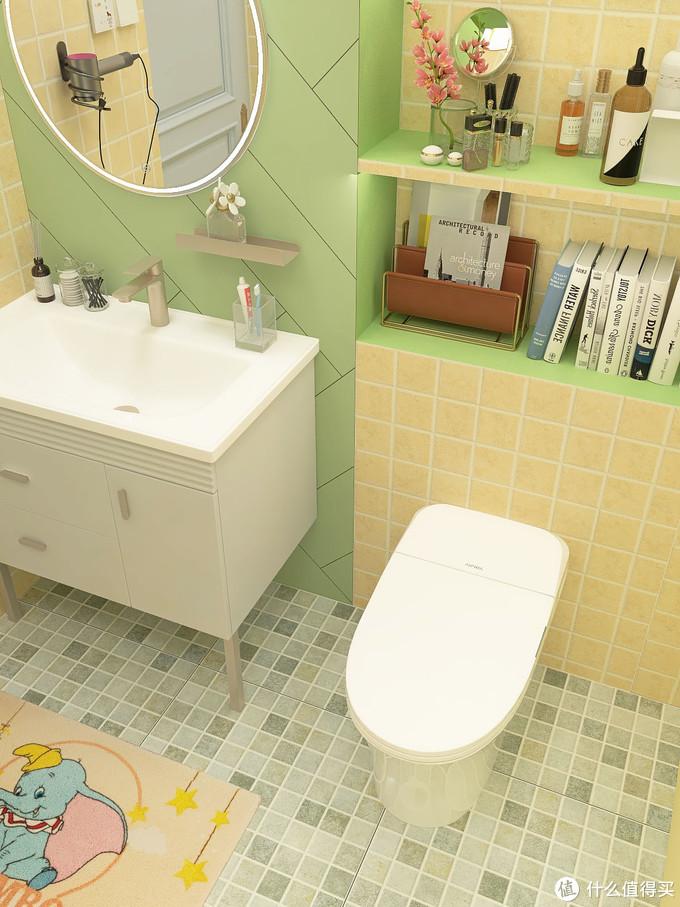 浴室配色都是马卡龙色调,美炸无数少女心