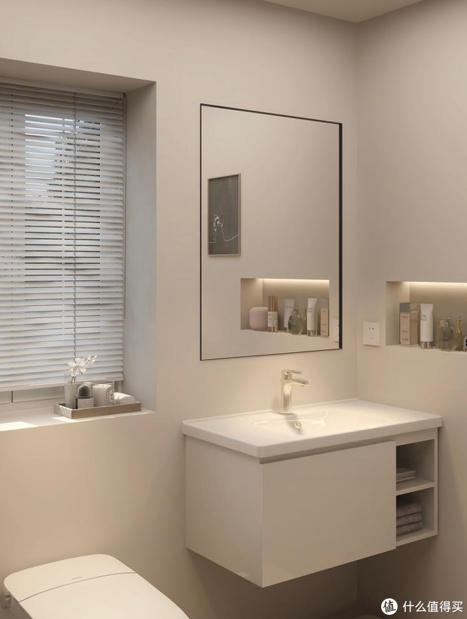 浴室设计 | 干净极简风✨简约系智能马桶