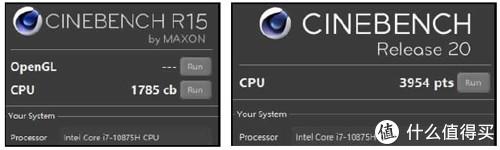 Y7000P 搭载的 i7 10875H 在单独处理器负载时,PL2 爆发功率为 107W,PL1 稳定功率输出为 75W,在目前市面上的同处理器游戏本中处于中上水平。而 Cinebench R15 1785cb 和 R20 3954pts 的渲染得分,也是英特尔移动处理器中相当勐的表现,远超 6 核 i7 10750H 1300cb(R15)/3300pts(R20)的普遍表现.