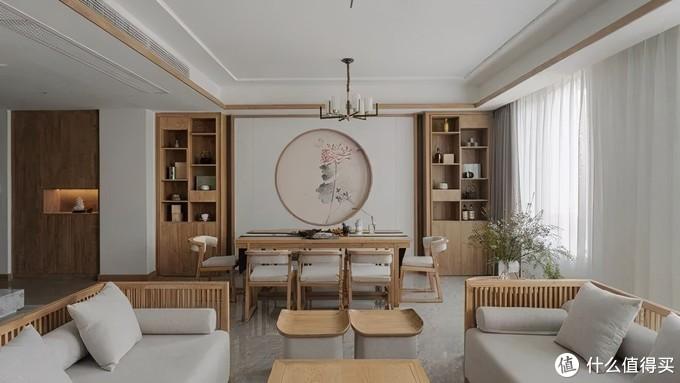 这套原木中式家,7个阳台应有尽有,全屋干净温暖,素雅悠然