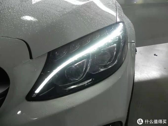 奔驰c200升级高配智慧型LED大灯案例分享