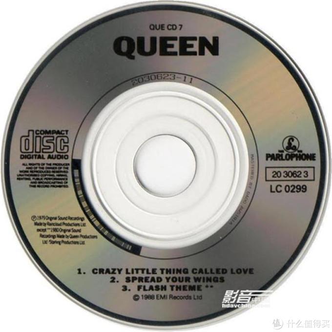 "QUEEN(皇后乐队)""Crazy Little ThingCalled Love"" Mini CD Single专辑,整张碟存储三首音乐"