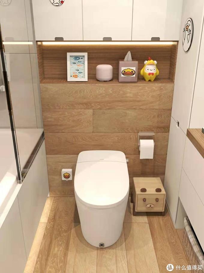 4m²简约浴室装修✨智能马桶+浴缸