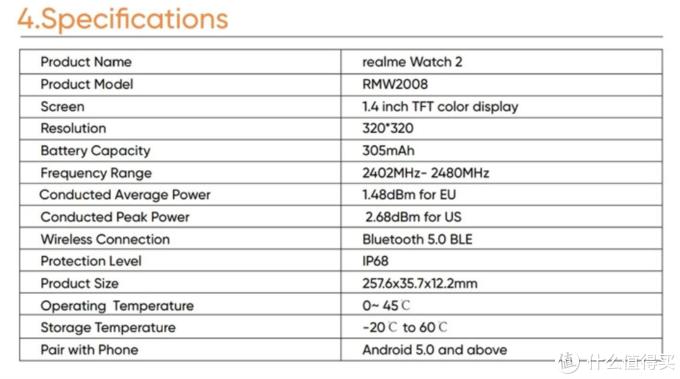 Realme Watch 2智能手表更多规格曝光,12天续航、支持血氧监测