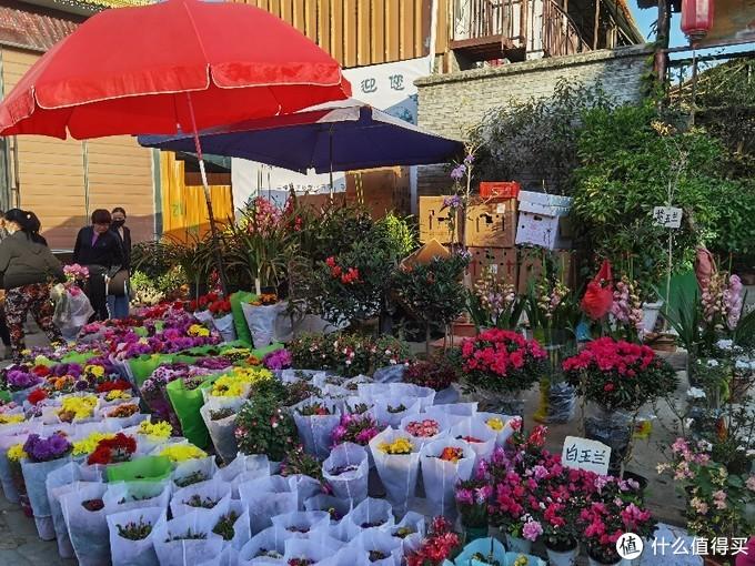 卖花的摊位