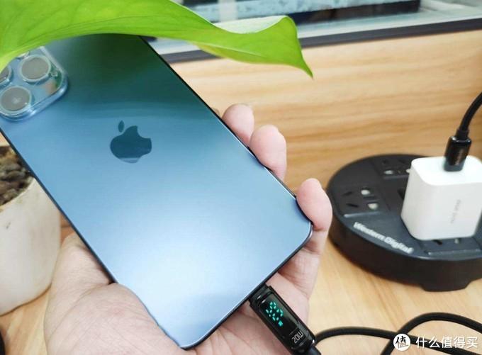 支持功率数显+20W PD快充,麦多多苹果数据线售价仅原装的一半