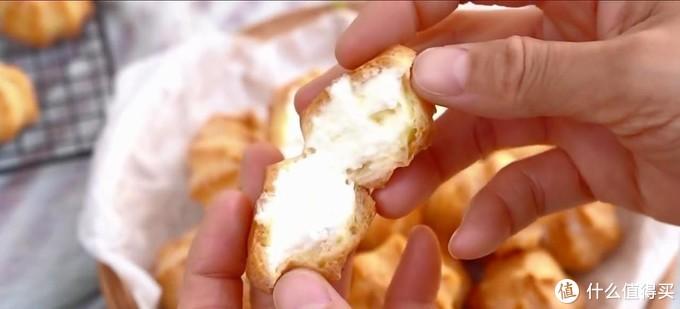 自制迷你泡芙,满满的奶油馅,入口即化