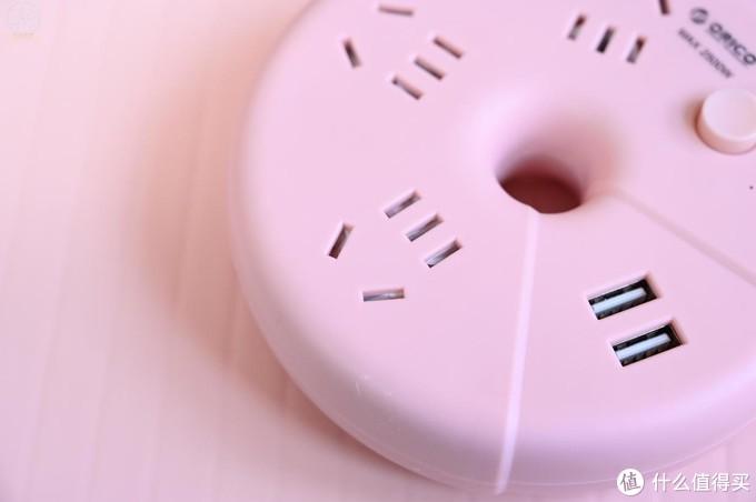 安全扩展插孔位,就用这款精致的小排插,ORICO甜甜圈上手