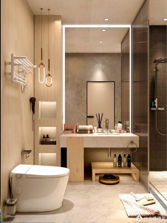 小清新浴室丨智能马桶提升我的生活幸福感