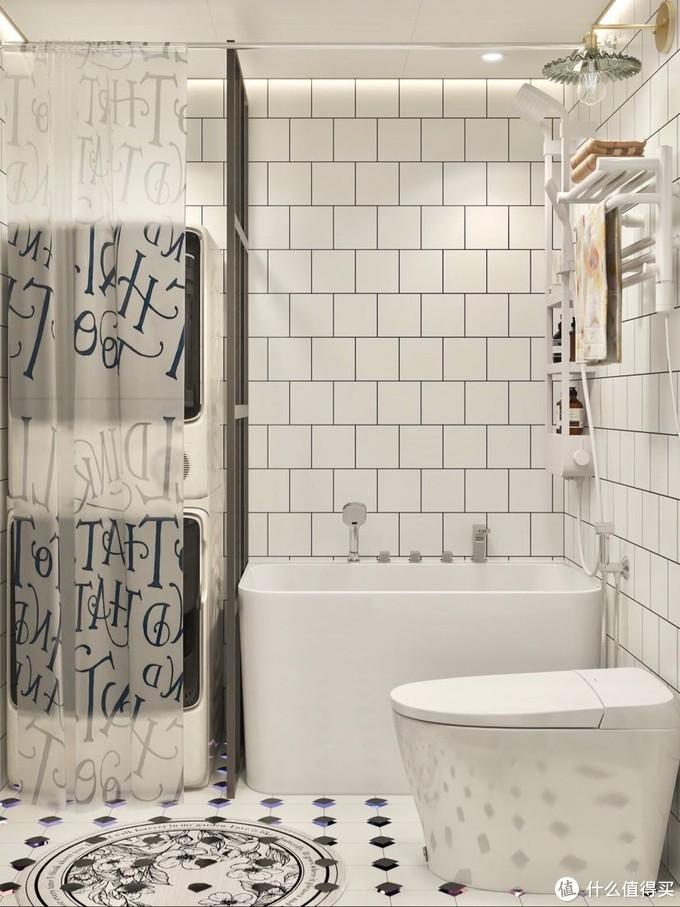 卫生间小空间大利用|洗衣淋浴泡澡全都要