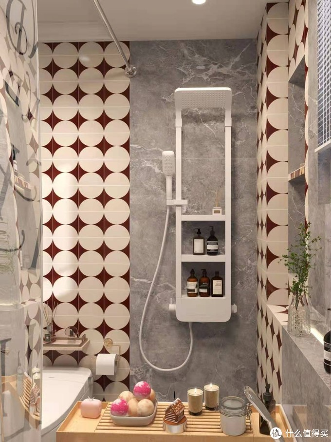 4平简约浴室✨塞下智能马桶和洗衣机!