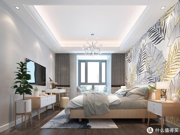 她把新房装修成简单的北欧风,墙面做石膏线体现出层次感,效果好