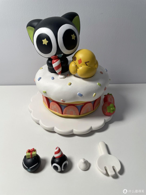生日萌物,可爱系罗小黑生日蛋糕音乐盒开箱